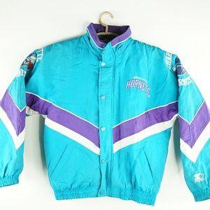 Vintage Charlotte Hornets Starter Zip Jacket Sz L